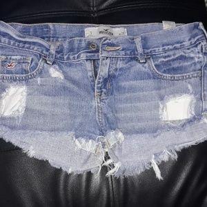 Distressed Hollister shorts